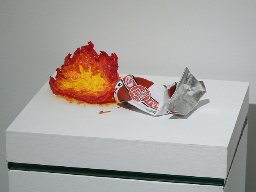 Mathieu Lefèvre, Flaming Paint Tube, 2010